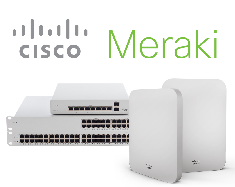 Cisco Meraki Cloud Managed Network Hardware for Small Businesses.